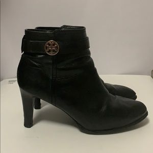 TORY BURCH BLACK BOOTIES SIZE 9.5 M
